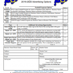 Place your Ad in the Clemens Football Program today!