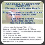 Clemens Football Bi-District Playoffs