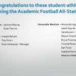 Academic Football All-State Team