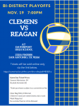 Clemens Volleyball Bi-District Playoff Information