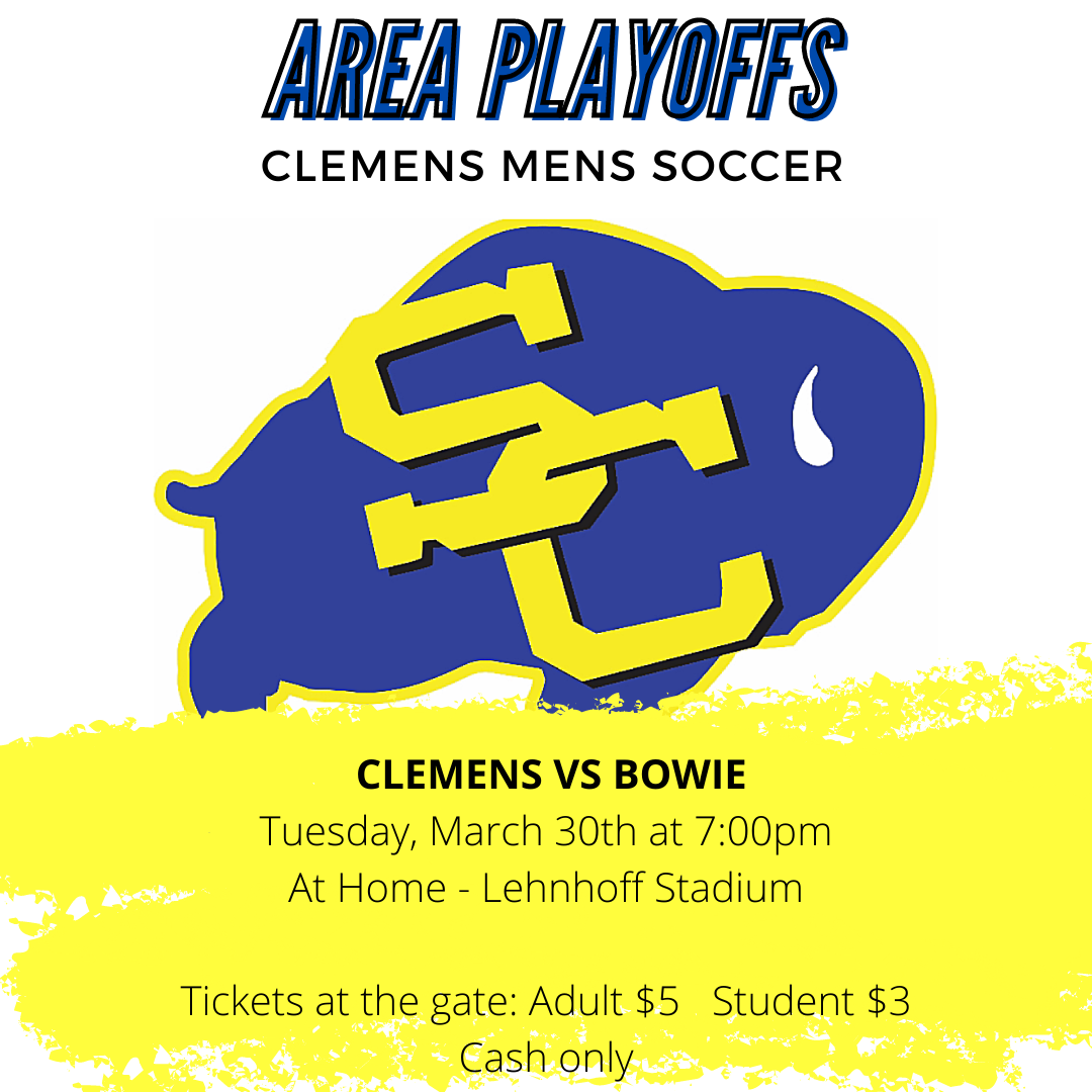 Clemens Mens Soccer Area Playoff Information