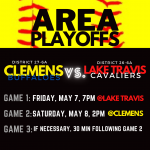 Clemens Softball Area Playoff Information