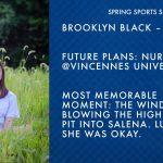 SPARTAN SENIOR SPOTLIGHT – BROOKLYN BLACK