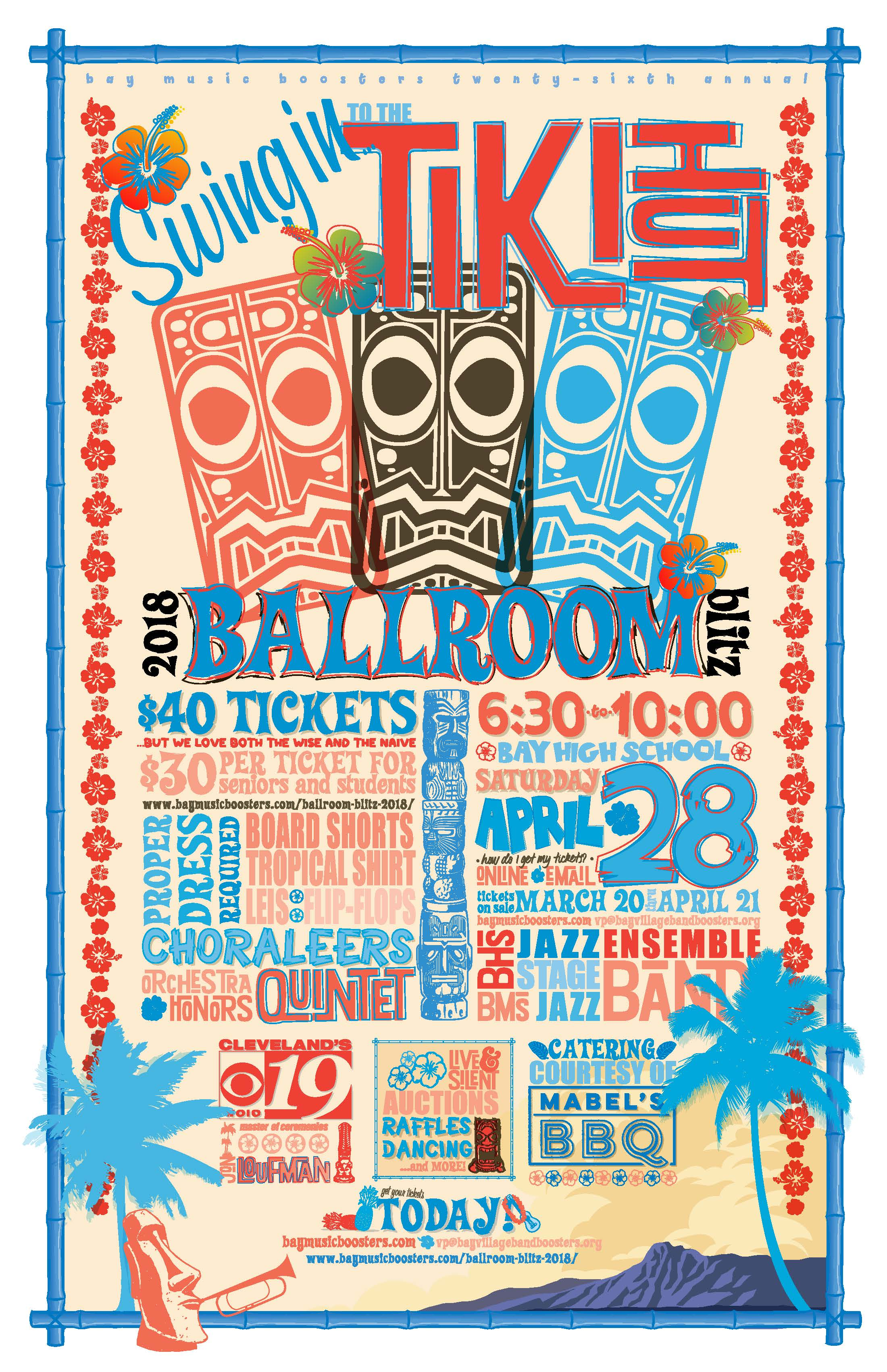 Bay Music Boosters 26th Annual Ballroom Blitz – Saturday, April 28th