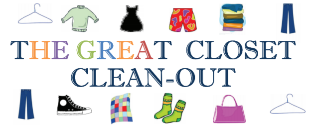 The Great Closet Clean-out – Thursday, September 24 – Saturday, September 26!!