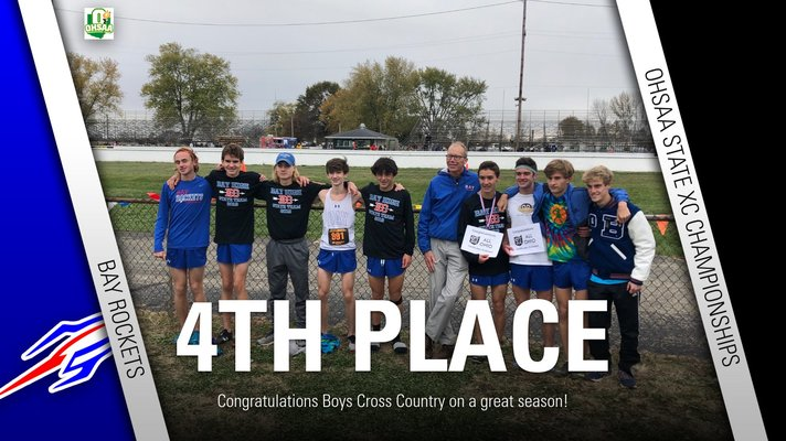 Boys Cross Country Places 4th at States!!