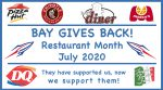 Bay Gives Back Continues in July!!