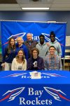 """Jude Ault signs his """"National Letter of Intent"""" with Malone University"""