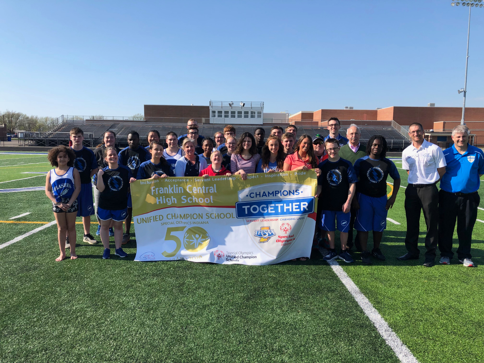 """FCHS named Indiana's First """"Gold Banner School"""" by Champions Together"""