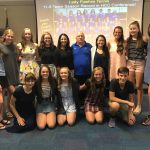 Lady Flashes Tennis Celebration
