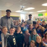 Flashes Basketball Volunteering at Franklin Township Elementary Schools