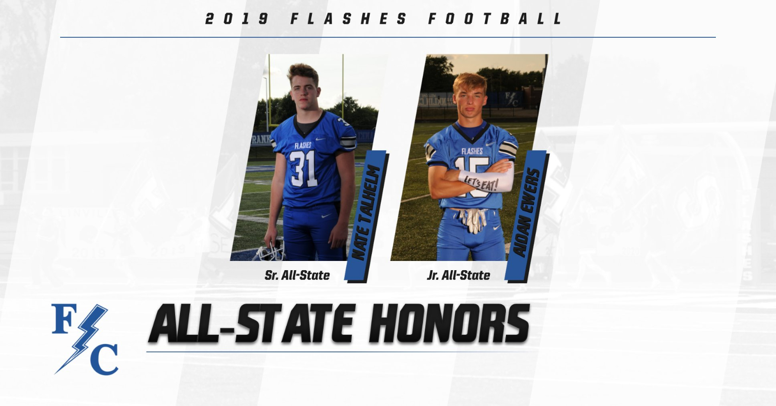 Nate Talhelm and Aidan Ewers Recieve All State Honors for Football