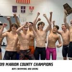 Boys Varsity Swimming wins 1st Marion County Championship in School History