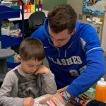 Flashes Baseball Volunteer at Elementary Schools