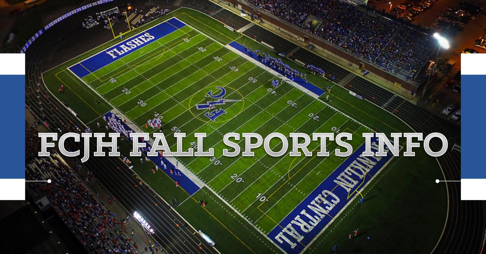 FCJH Fall Sports Info