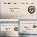 PHS Football, Boys Cross Country, Swim Get RVL Sportsmanship Award