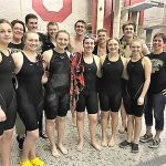 Scottie swimmers compete well at District Meet; TV boys relay squads cap season – and career – with three more records; Caroline Holmes just misses State Meet spot