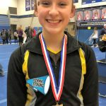 Tri-Valley gymnast Olivia Combs qualifies for State Meet; Lady Dawgs gymnastics team earns solid sixth place at District Meet