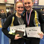 Tri-Valley junior Olivia Combs qualifies for return trip to State Gymnastics Meet; Scottie senior Cameron McCullough earns alternate spot