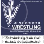Wrestling Meeting Oct. 9