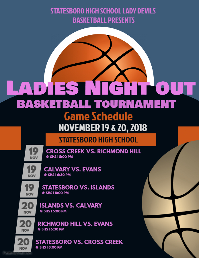 Ladies Night Out Tournament Schedule