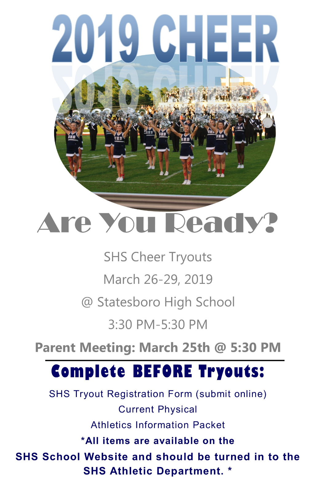 2019 Cheer Tryout Info Announced