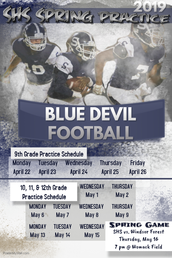 Spring Football Schedule Announced