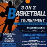 3 on 3 Fundraiser Oct. 6th