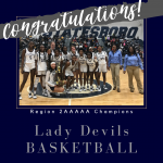 Lady Devils Basketball – Region 2AAAAA Champs!