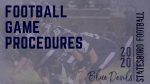 2020 Football Game Procedures