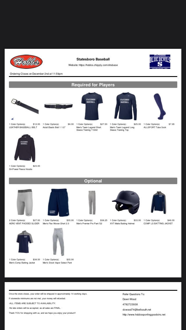 Baseball Player and Fan Store Open