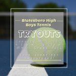 Tennis Tryouts Jan. 2021