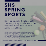 Spring Sports Requirements