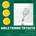 Girls Tennis Tryouts 2021