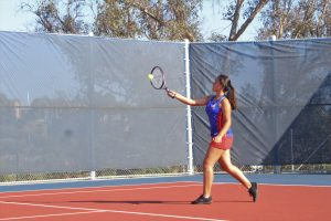 Varsity Girls Tennis victory over Gompers