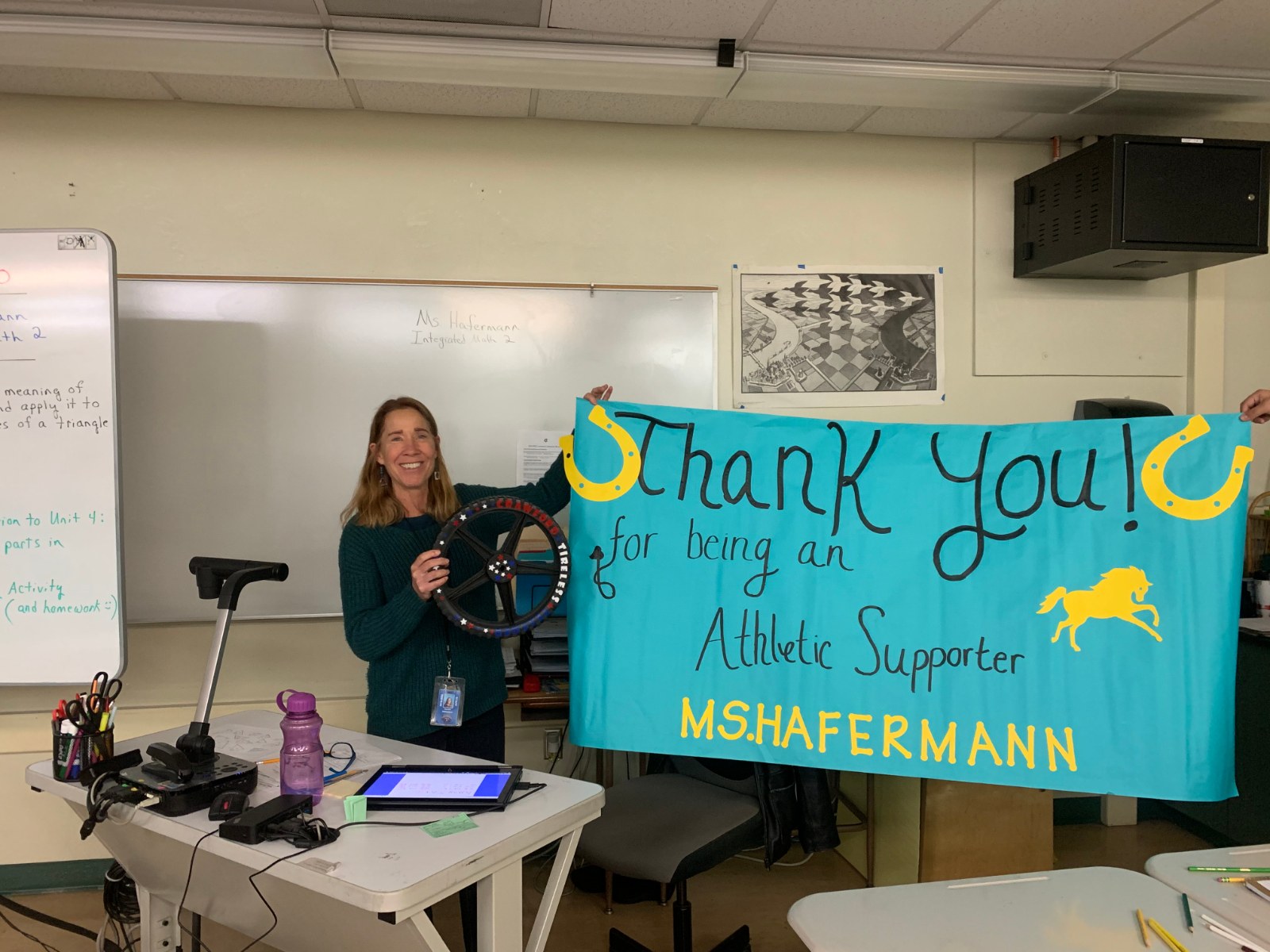 Crawford Teacher Ms. Hafermann wins Tireless Teacher Award
