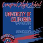 Celebrating Class of 2020-UC Bound Berkeley & San Diego