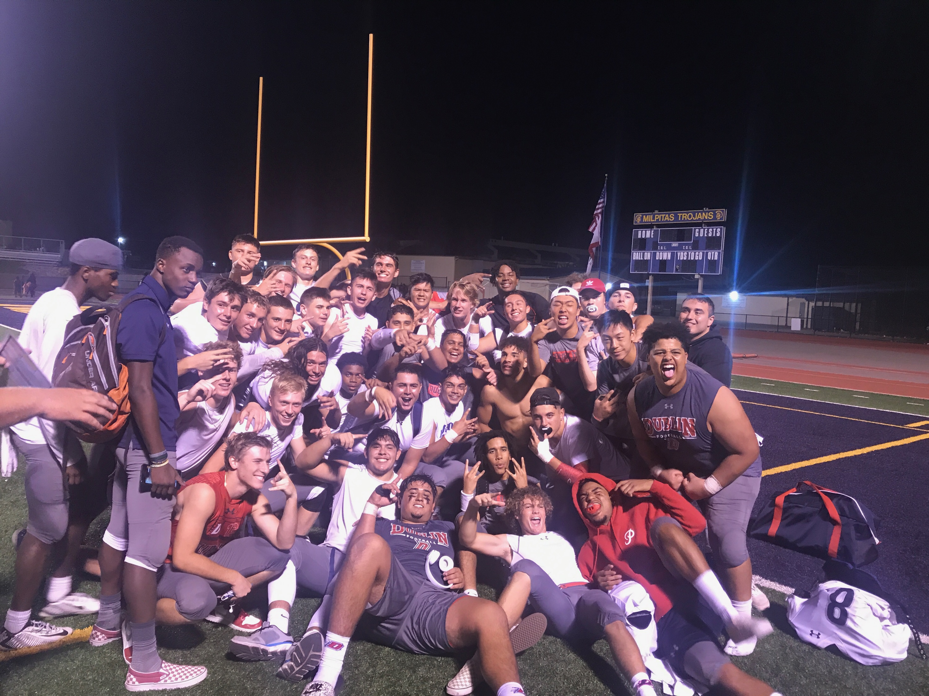 The Gaels had a great win last night over Milpitas! 22-21 Go Gaels!