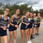 Girls Varsity XC cruises to double victories over Franklin and Yough
