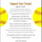 Pinckney Softball Hosting Veterans Game for Wounded Warriors