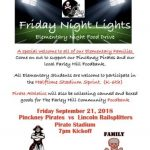 Friday Night Lights  Elementary Night Food Drive