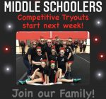 Middle School Competitive Cheer Try-Outs