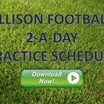 2017 Football 2-a-Day Practice Schedule