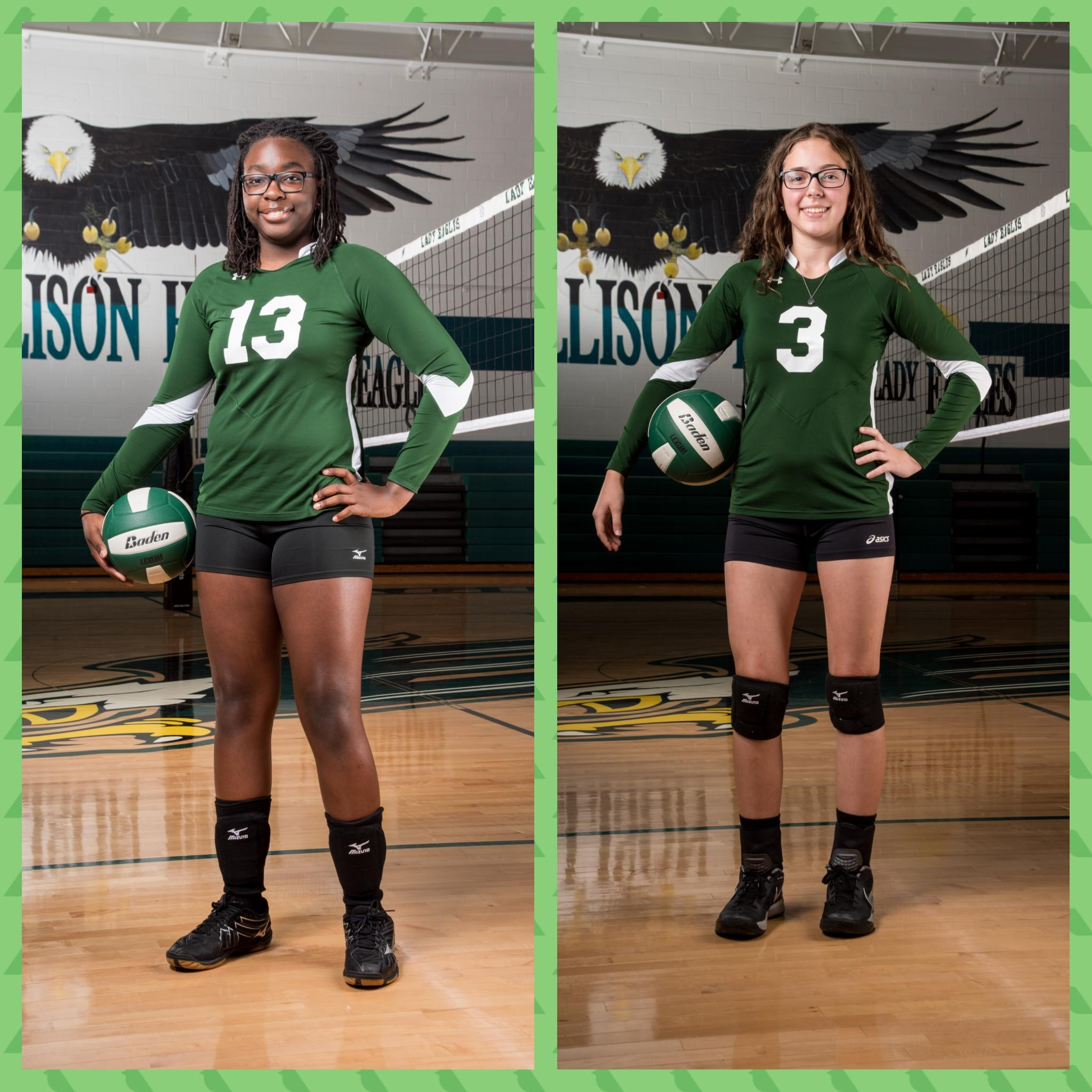 Volleyball STUDENTS of the Week–Adaizah Millett and Kylie Swanson