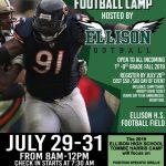 Tommie Harris Ellison Eagle Football Camp July 29-31