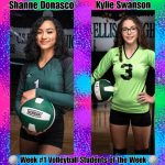 Week #1 Volleyball STUDENTS of the Week