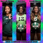 Week #3 Volleyball STUDENTS of the Week