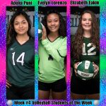 Week #4 Volleyball STUDENTS of the Week