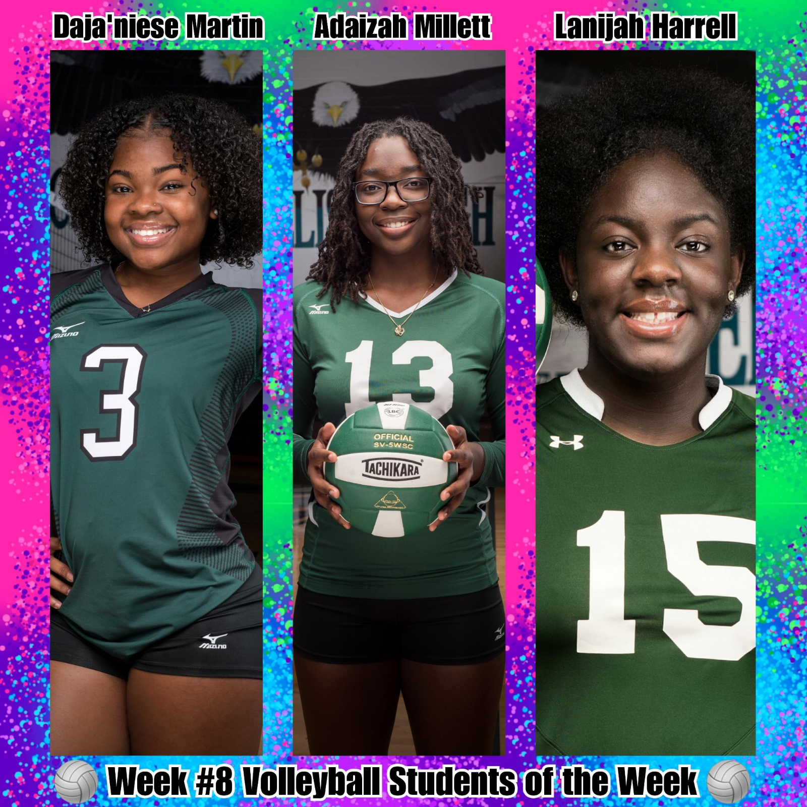 Week #8 Volleyball STUDENTS of the Week