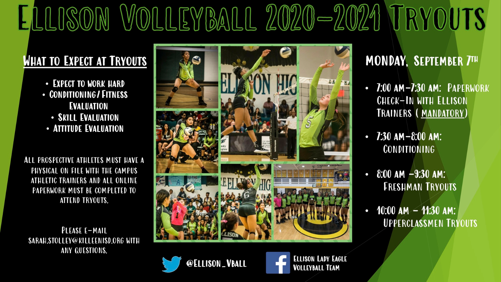 2020 Ellison Volleyball Tryouts